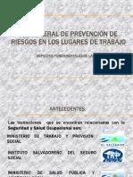 Presentacion Ley General de Prevencion de Riesgos en Los Lugares de Trabajo