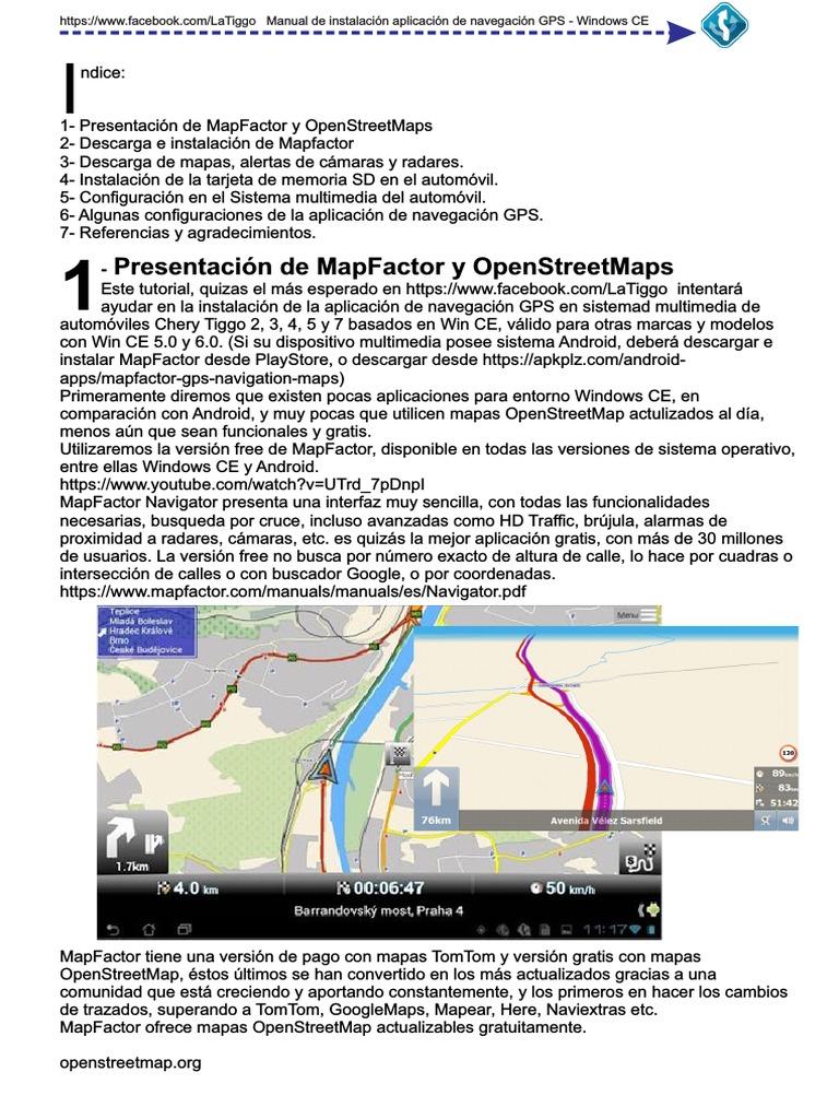 MapFactor GPS navegador pdf