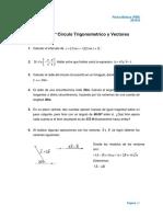Taller 3°_ FB0_2018_II - Circulo Trigonometrico y Vectores