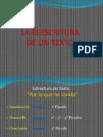 Presentacion de La Reescritura de Un Texto