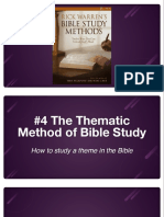 Bible Study Methods #4