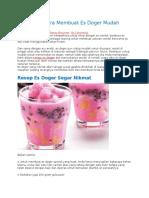 Resep dan Cara Membuat Es Doger Mudah yang Nikmat.doc