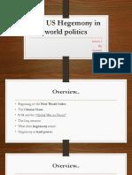 US Hegemony In World Politics