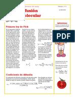 Publicación Difusión Molecular