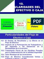 PARTICULARIDADES DEL FLUJO DE EFECTIVO O CAJA