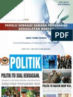Pemilu Sebagai Sarana Penegakan Kedaulatan Rakyat