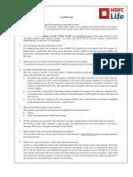 HDFC Life Term Insurance CLAIMS FAQ