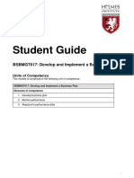 BSBMGT617 Develop and Implement a Business Plan - Student Guide