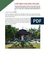 Tìm chỗ bán đất nghĩa trang thiên chúa giáo