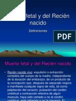 Muerte Fetal y Del Recien Nacido