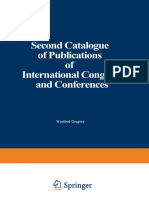 Gregory_Second Catalogue of Publications of International Congresses_1939