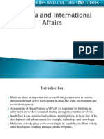 Malaysia and International Affairs