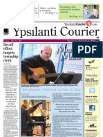 The Ypsilanti Courier Front Page Oct. 7