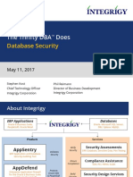 Integrigy Thrifty DBA Does Database Security
