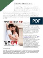 Pelajaran Kehidupan Dari Masalah Drama Korea