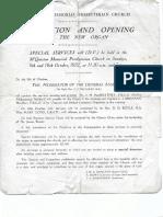dedication   opening of new organ 9   16 oct 1932