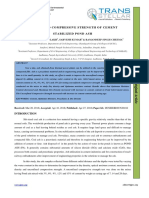 UNCONFINED COMPRESSIVE STRENGTH OF CEMENT STABILIZED POND ASH