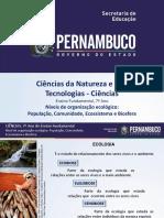 Níveis de organização ecológico População, Comunidade, Ecossistema e Biosfera.ppt