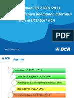 7. Paparan Materi Penerapan ISO 27001 SMKI DCO DCN GSIT BCA OJK Seminar Nasional Kearsipan 5 Desember 2017