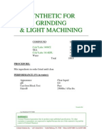 Synthetic for Grinding & Light Machining 064