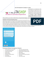 Prestashop ECommerce Website Development Company in Delhi, Noida