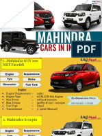 Get Information About Mahindra Cars in India