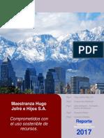Reporte Sustentabilidad (Ambiental) Maestranza Jofré 2017