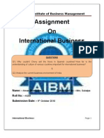Assignment on International Business ( The current business environment of India)