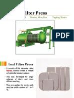 Leaf Filter Press
