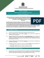 Edital 72 2018 Ensino Tecnico 2019