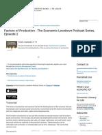 Factors of Production, Economic Lowdown Podcasts _ Education Resources _ St