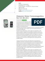 Disjuntor-Motor Termomagnético SL2!25!80 (AC) - SLS2251F