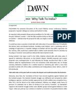 Kashmir - Why Talk To India.pdf