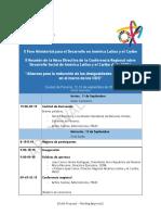 Agenda del X Foro Ministerial para el Desarrollo en América Latina y el Caribe