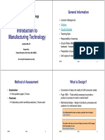 01_Inroduction to Manufacturing Technology
