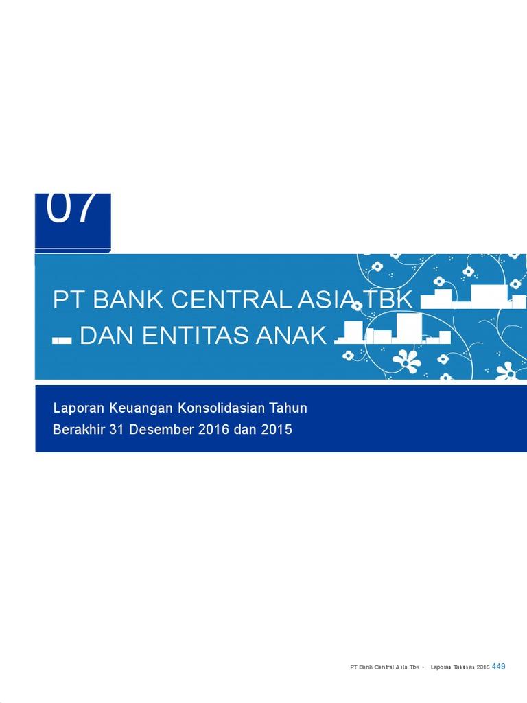 Laporan Keuangan Pt Bank Central Asia Tbk - Seputar Laporan