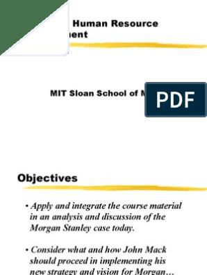 Morgan Stanley | Performance Appraisal | Organizational Behavior