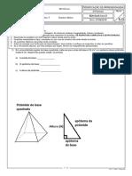 VA 2- 1ª série - Volume das Pirâmides
