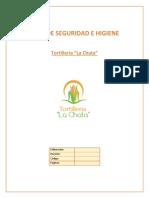 Plan de Seguridad e Higiene Tortilleria