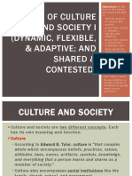 Aspects of Culture and Society I (Dynamic, Flexible, Adaptable, Shared and  Contested.pptx