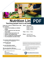 Nutrition Links Flyer - Limerock Oct 2018