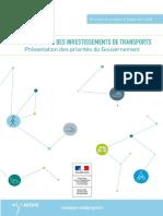 Programmation des Investissements de Transports présentée par la Ministre Elisabeth Borne mardi 11 septembre 2018