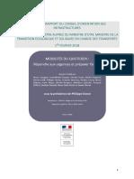 Synthèse du rapport du Conseil d Orientation Des Infrastructures rendu le 1er février 2018