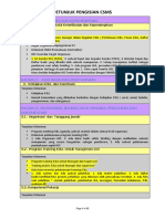 Petunjuk pengisian CSMS