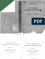 Izvoarele Istoriei Românilor-Volumul 7. Cronica Lui Nestor