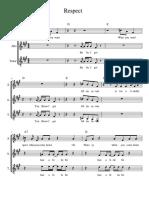 Respect- 6th Grade Vocal arrangement