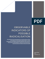Observable indicators of radicalisation