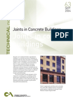 Joints in Concrete Buildings