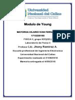 Modulo de Young-Laboratorio experimental-UNAC-FIEE