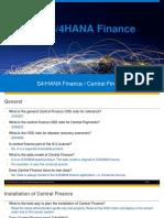 S4H Central Finance FAQ